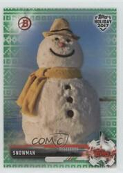2017 Topps Holiday Bowman Green Sweater 99 Snowman #TH-S $3.42