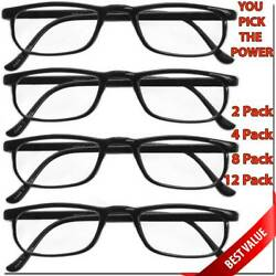 READING GLASSES LENS 24812 PACK LOT CLASSIC READER UNISEX MEN WOMEN STYLE LOT $7.95