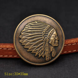 10PCS DIY WESTERN ANTIQUE INDIAN HEAD REPRODUCTION COIN CONCHO 1 3 8quot; screw back $9.49