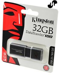New!! Lot of 500 pcs Kingston 32GB USB 3.1 DT100G3.   ($4.80 each)