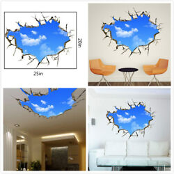US 3D Wall Stickers Sky Clouds Cartoon Room Decal Wallpaper Removable $8.99