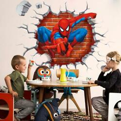 US 3D Wall Stickers Spider man Spiderman Cartoon Room Decal Wallpaper Removable $9.99