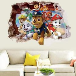US 3D Wall Stickers Paw Patrol Kids Cartoon Room Decal Wallpaper Removable $9.99
