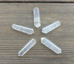 NATURAL CLEAR QUARTZ DOUBLE TERMINATED GEMSTONE CRYSTAL PENCIL POINT (ONE)