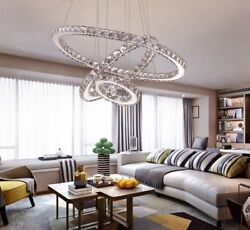 LED Crystal Chandeliers Modern Light Lamp For Living Room Lustre Ceiling Fixture $461.97