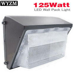 125W LED Wall Pack Outdoor Lighting 5700K Daylight White 12500Lm Bright White