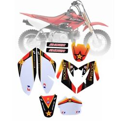 Plastic Sticker Kits Decal Graphic Honda CRF70 Sticker Sets Wrap Rear Dirt Bike