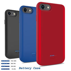 For iPhone SE 202066s78 Plus Battery Charging Case Cover Power Bank Charger $19.96