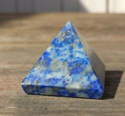 NATURAL LAPIS LAZULI MEDIUM GEMSTONE PYRAMID 27-30mm