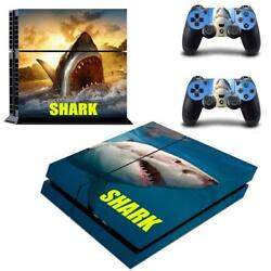 Regular PS4 Console Controllers The Meg Shark Vinyl Decals Skin Stickers Wraps