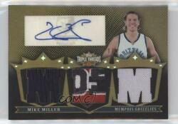 2007 Topps Triple Threads Relic Autograph Sepia5 #TTRA64 Mike Miller Auto Card