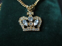 Vintage Butler And Wilson Crystal Crown Necklace Tower of London