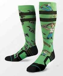 NEW STANCE MENS L ALL MOUNTAIN DAD CAM SMOKE SHACK SNOWBOARD SNOW SOCKS $14.99