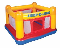 Intex Inflatable Jump O Lene Play Ball Pit Playhouse Bounce House Ring for Kids