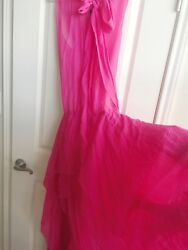 NEW BCBG MAX AZRIA RUNWAY DRESS sz L Hot Pink