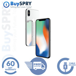 Apple iPhone X - 256GB Silver - Factory GSM Unlocked AT&T  T-Mobile Smartphone