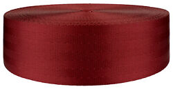 2 Inch Red Seat-belt Polyester Webbing Closeout 5 Yards $7.90