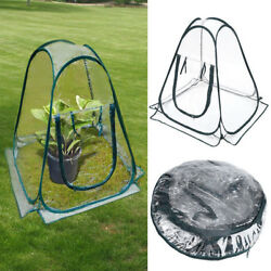 Clear PVC Portable Mini Flower Tent Greenhouse Cover Flower House Gardening Tent