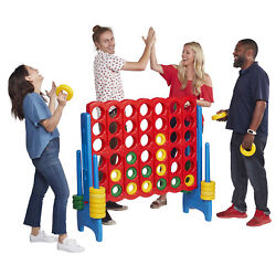 ECR4Kids Jumbo Four-To-Score Giant Game-IndoorOutdoor 4-In-A-Row Connect