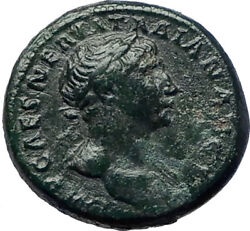 TRAJAN 98AD She-Wolf Mother to Romulus Remus QUALITY Ancient Roman  i73928