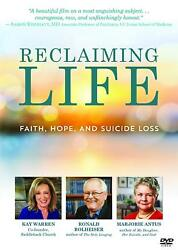 Reclaiming Life DVD Faith Hope and Suicide Loss by Marjorie Antus Kay Warren