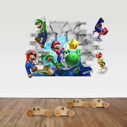 US 3D Wall Stickers Super Mario Cartoon Room Decal Wallpaper Removable $8.99