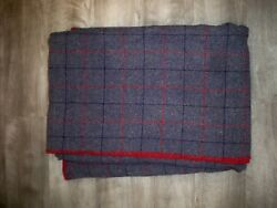 Vintage Faribo Windowpane Plaid Made in USA Blanket Cabin Decor Prop Camp Trade