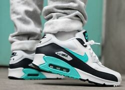 New NIKE Air Max 90 Essential Mens white green obsidian size 8 8.5 9.5