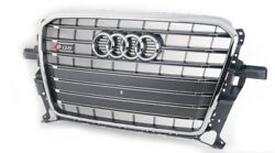 2013-2017 Audi SQ5 Gray Front Center Main Grill wEuro License Plate