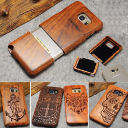 100% Natural Wooden Wood Phone Case Cover for Samsung S10 S10E S9 Note 8 9 Plus