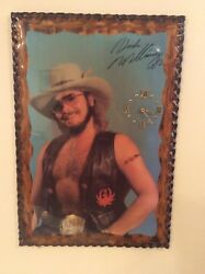 Hank Williams Jr Vtg Poster Wood Wall Decor Clock Man Cave Garage She Shed