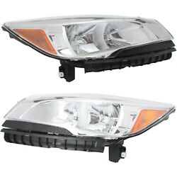 Headlight Set For 2013-2016 Ford Escape Left and Right Upper With Bulb 2Pc