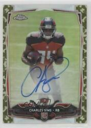 2014 Topps Chrome STS Camo Refractor 99 Charles Sims #191 Rookie Auto $4.83
