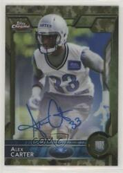 2015 Topps Chrome Rookies STS Camo Refractor 99 Alex Carter #161 Rookie Auto $13.19