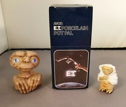 1982 1983 ET The Extra Terrestrial Collectibles POT PAL 2 Figures and a Ring