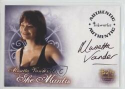 2004 Autographs #A-10 Musetta Vanderas as She Mantis Vander Auto Card 8df