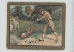 1910 Turkish Trophies Fable Series Tobacco T57 The Lion And Fox Card 9at