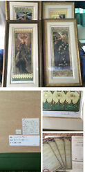 ALPHONSE MUCHA 'The Moon and the Stars' Set X4 Print Signed and Numbered