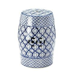 blue and white decorative stool living room outdoor furniture home decor patio