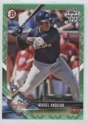 2018 Topps Holiday Bowman Green Sweater 99 Miguel Andujar #TH-MA Rookie $8.30