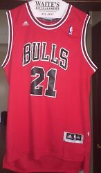 adidas Jimmy Butler Chicago Bulls Red Replica Road Jersey Size XXL