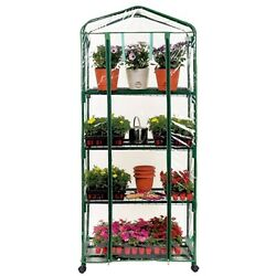 GENESIS Portable Rolling Greenhouse w Clear Cover