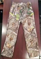 UA Under Armour Realtree Camo Scent Control Men#x27;s Fleece Hunting Pants ColdGear $65.00