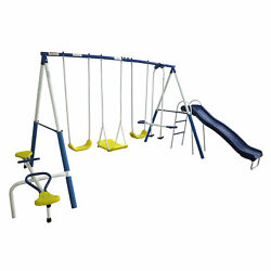 XDP Recreation Playground Galore Outdoor Backyard Kids Play Swing Set with Slide