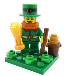 NEW LEGO LEPRECHAUN MINIFIG LOT st patrick's day irish pot of gold 4 leaf clover $9.99