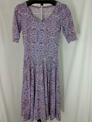Lularoe ANA Pink and Purple Dress $12.99