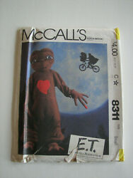 E.T. Extra Terrestrial Costume Childrens Small Size 6 -8 McCall's Sewing Pattern