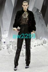 CHANEL NWT $6750 EXQUISITE RUNWAY LACE JUMPSUIT