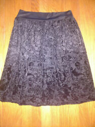 Requirements unique gothic black Skirt Womens size small black lined S New