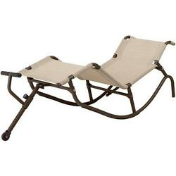 EASY OUTDOOR ZERO GRAVITY ROCKING CHAISE LOUNGE